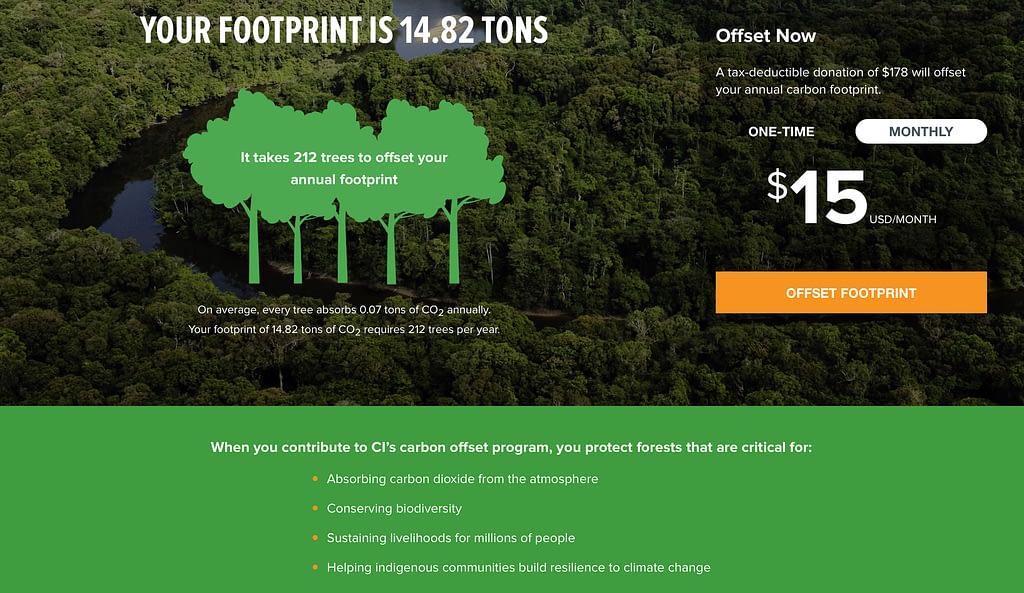 Emissions Footprint Conservation International