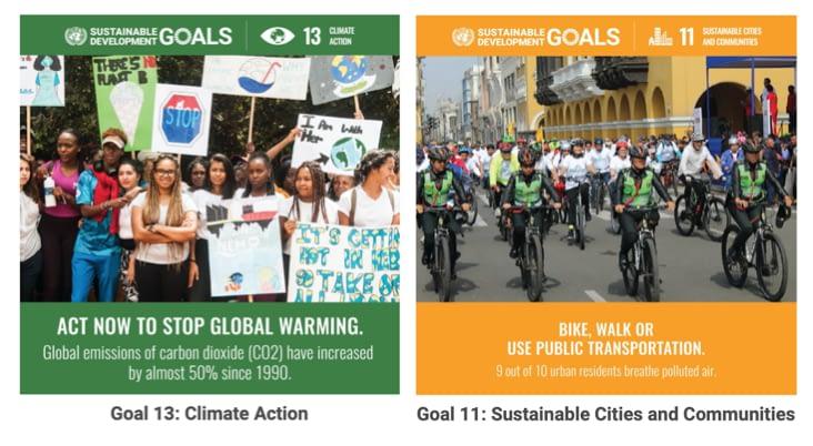 Sustainable Development Goals 11 & 13